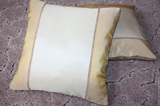 Текстиль, ковры ручной работы. Ярмарка Мастеров - ручная работа. Купить подушка декоративная. Handmade. Комбинированный, переливающийся, потайная молния