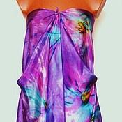Одежда ручной работы. Ярмарка Мастеров - ручная работа Парео шёлковое И сны расцветут Батик. Handmade.