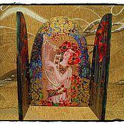 """Картины и панно ручной работы. Ярмарка Мастеров - ручная работа Складень """"Маковый модерн"""". Handmade."""