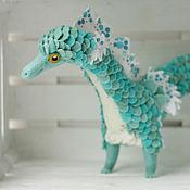 Куклы и игрушки ручной работы. Ярмарка Мастеров - ручная работа Бирюзовый морской конек. Handmade.