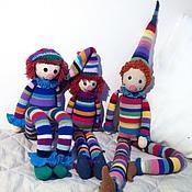 Куклы и игрушки ручной работы. Ярмарка Мастеров - ручная работа вязаная игрушка Петрушка. Handmade.