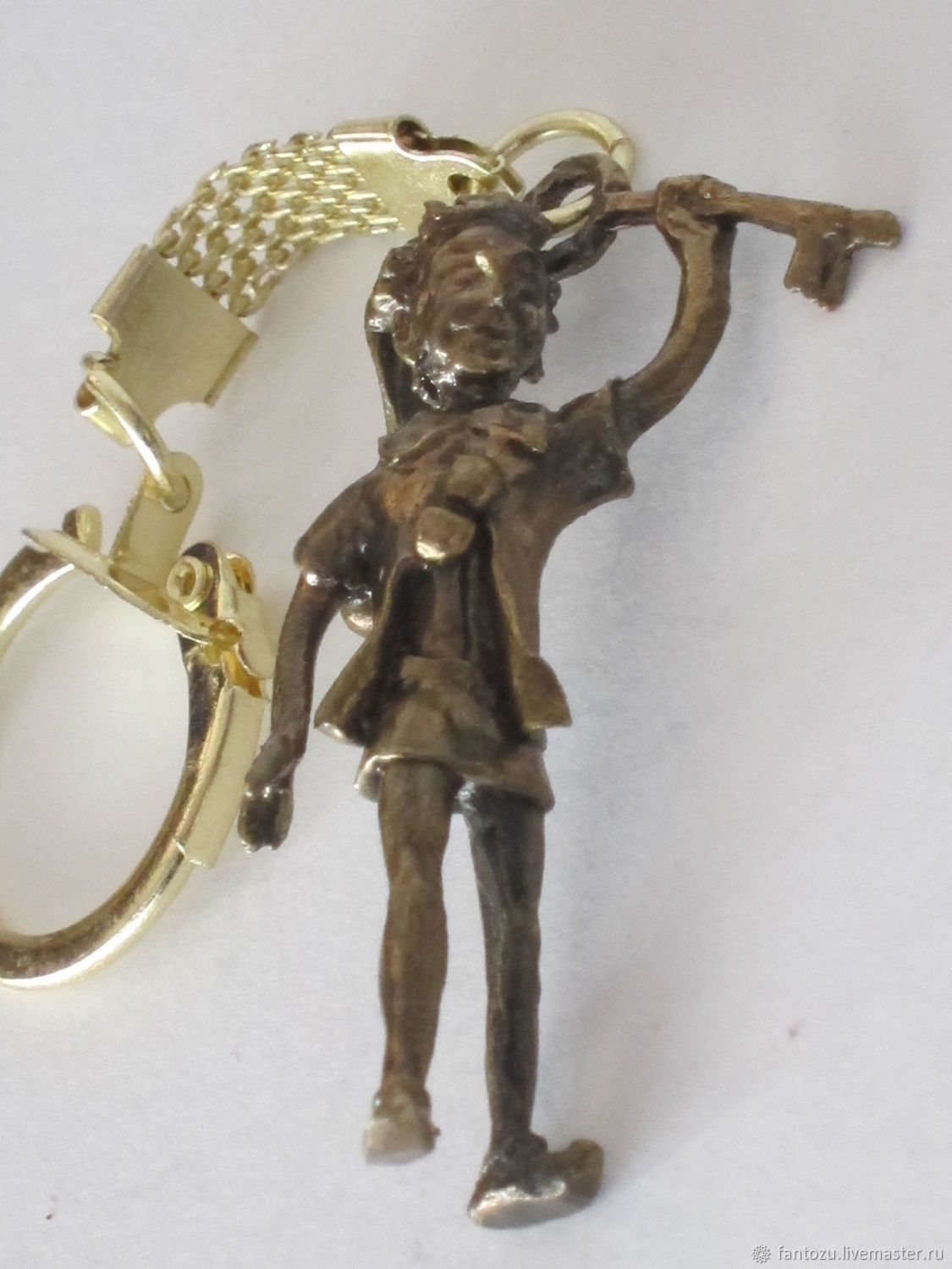 Brass key chain Pinocchio, Key chain, Yaroslavl,  Фото №1