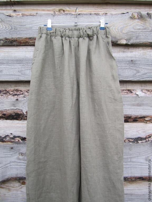 Pants mens linen, Pants, Vorotynets,  Фото №1