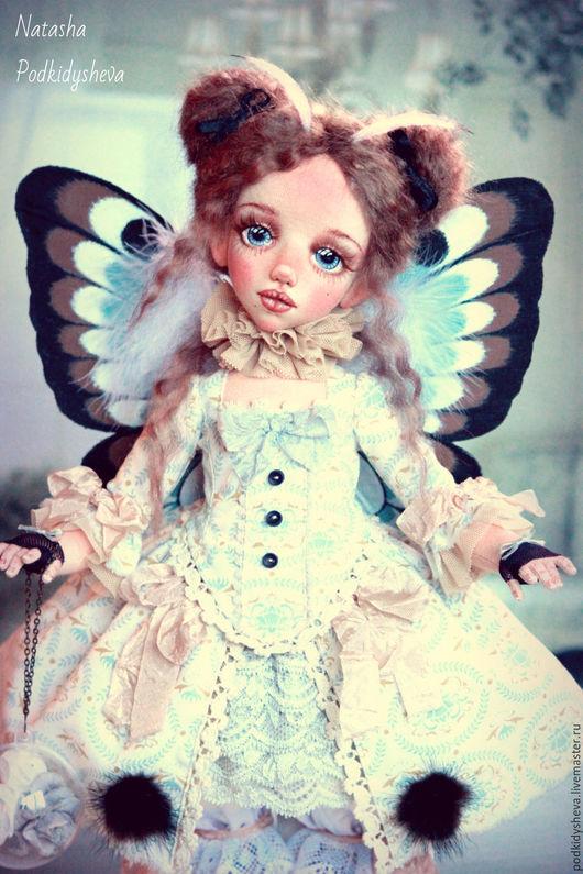 Коллекционные куклы ручной работы. Ярмарка Мастеров - ручная работа. Купить Butterfly. Handmade. Мятный, бабочка