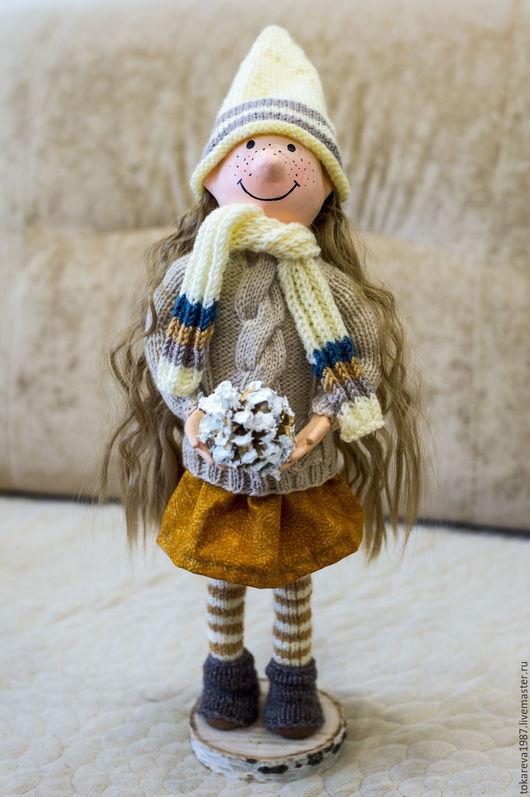 Человечки ручной работы. Ярмарка Мастеров - ручная работа. Купить Кукла новогодняя. Handmade. Золотой, кукла ручной работы, гномочка