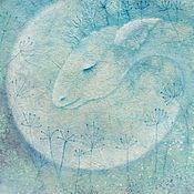 Картины и панно ручной работы. Ярмарка Мастеров - ручная работа Толкователь снов... Картина-принт на холсте.. Handmade.