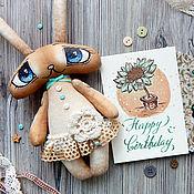 Куклы и игрушки ручной работы. Ярмарка Мастеров - ручная работа Мастер-класс Зайчик-глазастик. Handmade.
