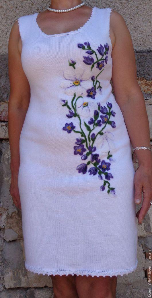 """Платья ручной работы. Ярмарка Мастеров - ручная работа. Купить Платье"""" Летний букет"""". Handmade. Белый, платье летнее"""