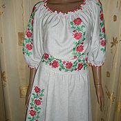 Одежда ручной работы. Ярмарка Мастеров - ручная работа платьице с юбкой полусолнцеклёш. Handmade.