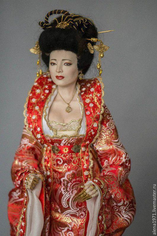 Коллекционные куклы ручной работы. Ярмарка Мастеров - ручная работа. Купить Китаянка Сакура. Handmade. Ярко-красный, китайский стиль