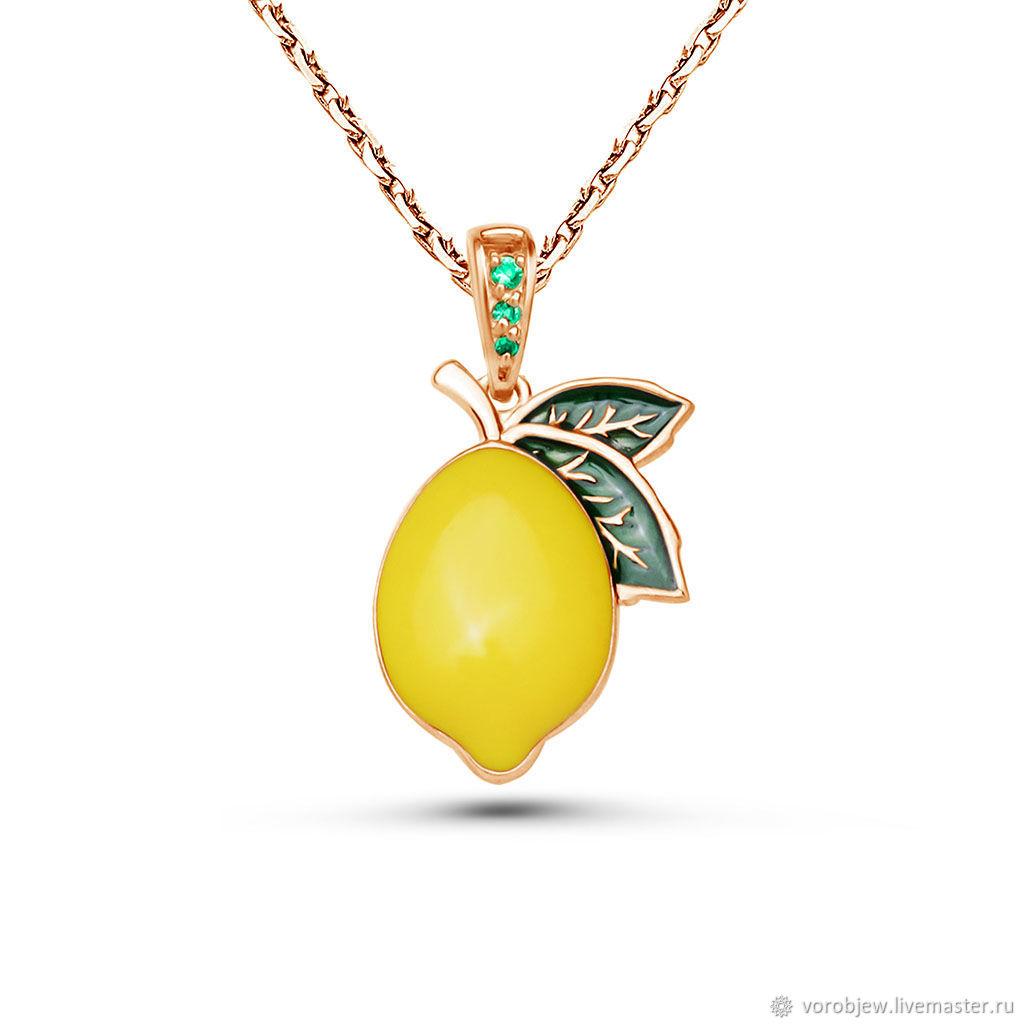 """Кулон """"Лимон"""", Кулон, Кострома,  Фото №1"""