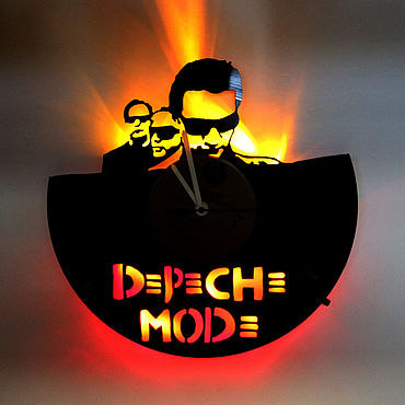For home and interior handmade. Livemaster - original item Wall clock with LED backlight from Depeche Mode plate. Handmade.