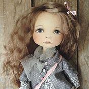 Куклы и игрушки ручной работы. Ярмарка Мастеров - ручная работа Кукла с розовой сумочкой. Handmade.