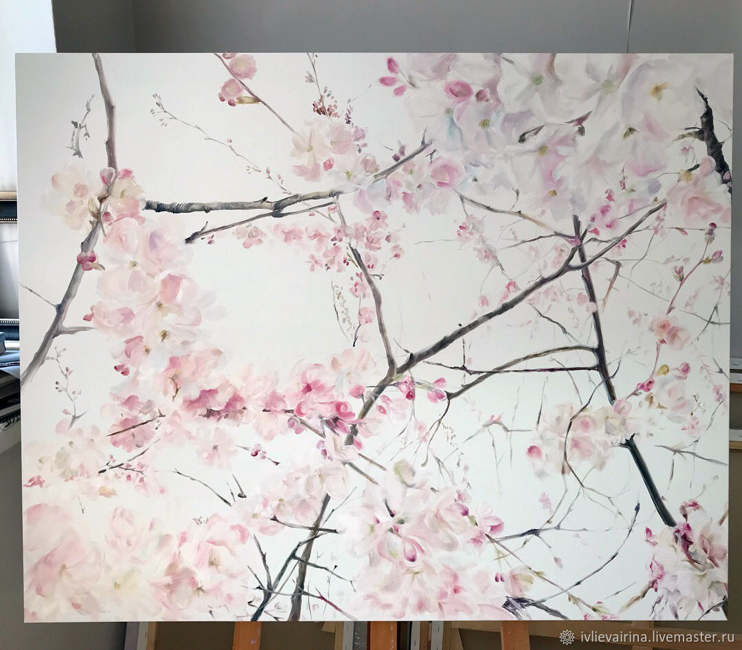 Oil painting Spring 80h100 cm, Pictures, Moscow,  Фото №1