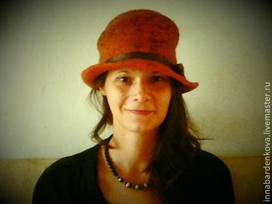 """Шляпы ручной работы. Ярмарка Мастеров - ручная работа. Купить шляпка """" Прага"""". Handmade. Коричневый, ручная работа, войлок"""