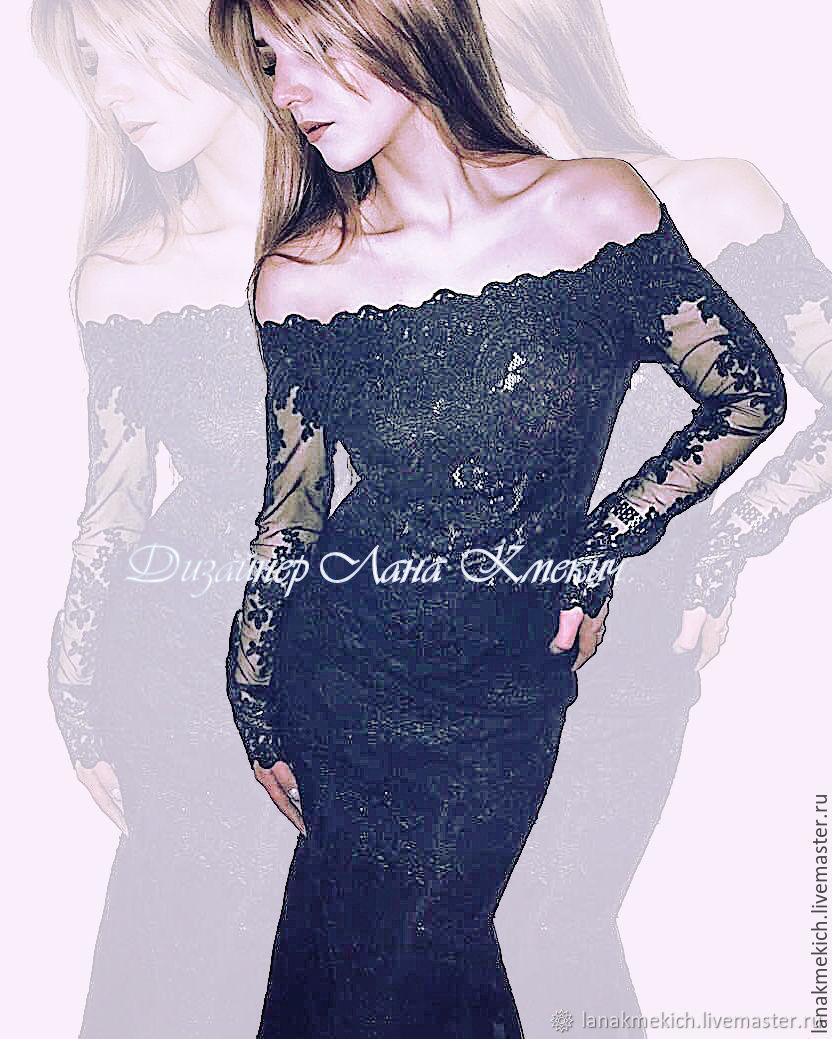 Lace dress 'Black Swan', Dresses, Moscow,  Фото №1