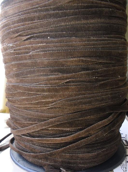 Для украшений ручной работы. Ярмарка Мастеров - ручная работа. Купить Шнур замшевый плоский 3,5 мм. Handmade.