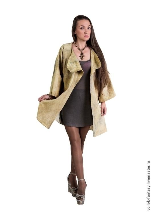"""Пиджаки, жакеты ручной работы. Ярмарка Мастеров - ручная работа. Купить Летнее пальто """"Патина"""" ПРОДАНО. Handmade. Валяная одежда"""