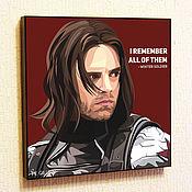 Подарки к праздникам handmade. Livemaster - original item Painting Pop Art Winter Soldier. Handmade.
