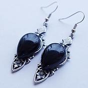Украшения handmade. Livemaster - original item Earrings Black Onyx. Handmade.