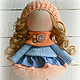 Коллекционные куклы ручной работы. Ярмарка Мастеров - ручная работа. Купить Кукла-малыш Апельсинка. Handmade. Оранжевый, кукла интерьерная