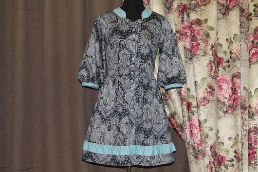 Платья ручной работы. Ярмарка Мастеров - ручная работа. Купить Платье. Handmade. Серый, интересные изделия, intanti, хлопок