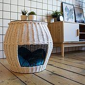 Лежанки ручной работы. Ярмарка Мастеров - ручная работа Плетеный домик-тумба. Handmade.