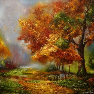 Картины и панно ручной работы. Ярмарка Мастеров - ручная работа Осенняя гамма. Handmade.