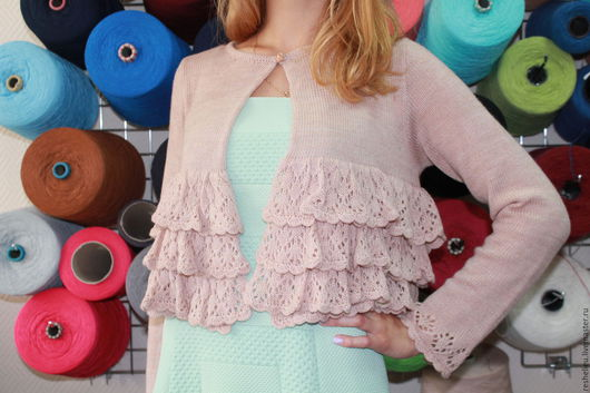 Кофты и свитера ручной работы. Ярмарка Мастеров - ручная работа. Купить Кофточкая #87 вязаная из 30% итальянской шерсти. Handmade.