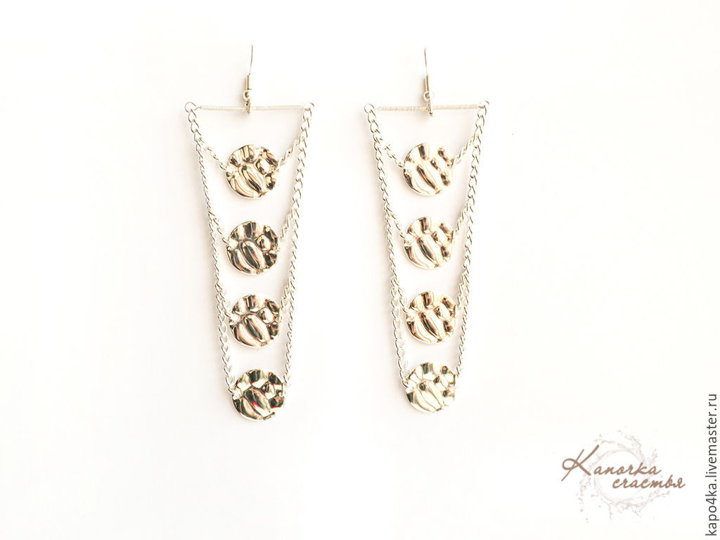 Long earrings silver plated Queen. Buy silver plated earrings, white earrings, earrings without stones, earrings, silver plated, evening earrings, earrings as a gift. Designer jewelry handmade.