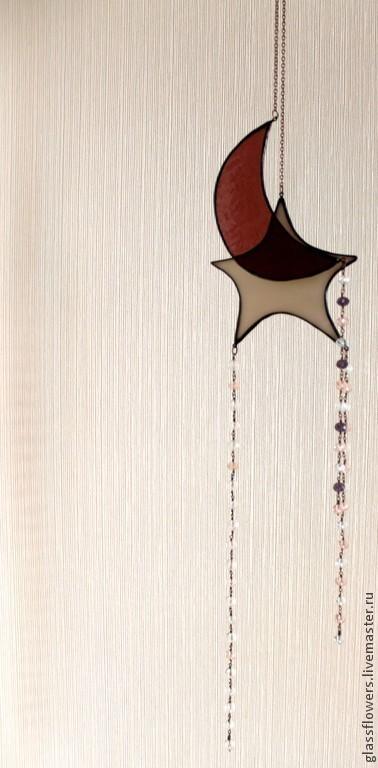 Интерьерное новогоднее украшение. Небо. Звезды, Витражи, Санкт-Петербург,  Фото №1