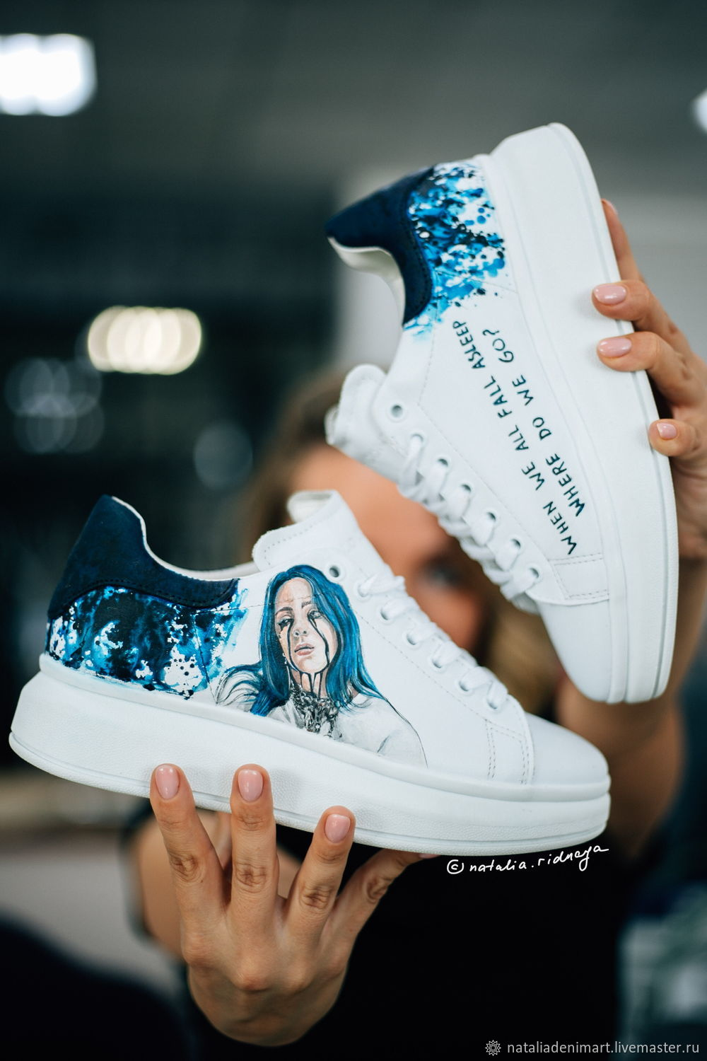 Billie Eilish fashion sneakers. Drawing on sneakers Billy eilish, Sneakers, Omsk,  Фото №1