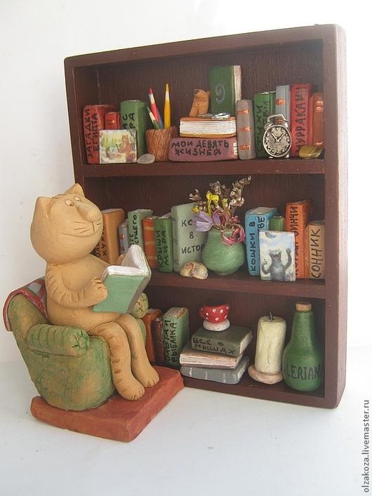 Миниатюра ручной работы. Ярмарка Мастеров - ручная работа. Купить Библиотечка. Handmade. Кот, рыжий