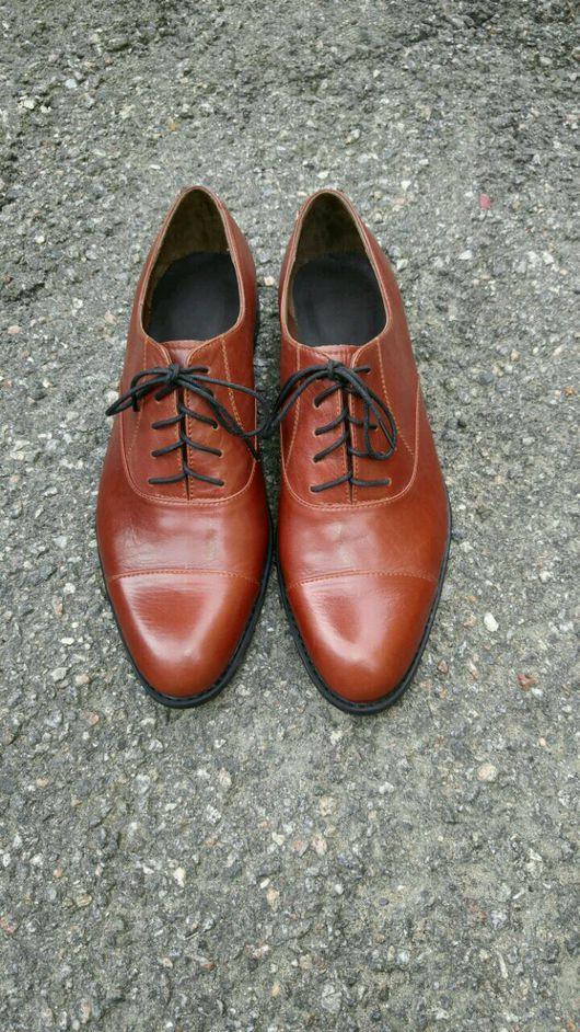 Обувь ручной работы. Ярмарка Мастеров - ручная работа. Купить Оксфорды Мужские. Handmade. Туфли ручной работы, туфли кожаные