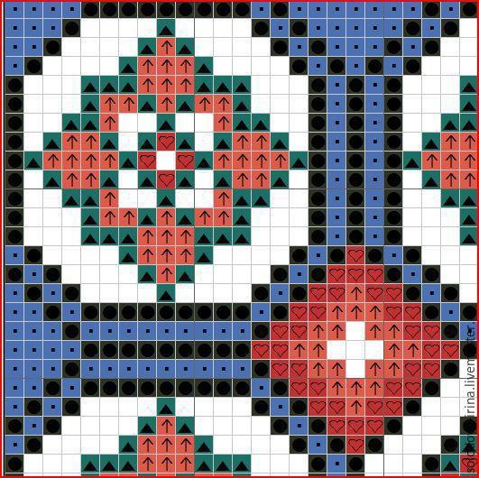 Схемы ромбов в вышивке