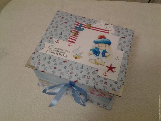"""Подарки для новорожденных, ручной работы. Ярмарка Мастеров - ручная работа. Купить Комодик """"Мамины сокровища"""" для мальчика. Handmade."""