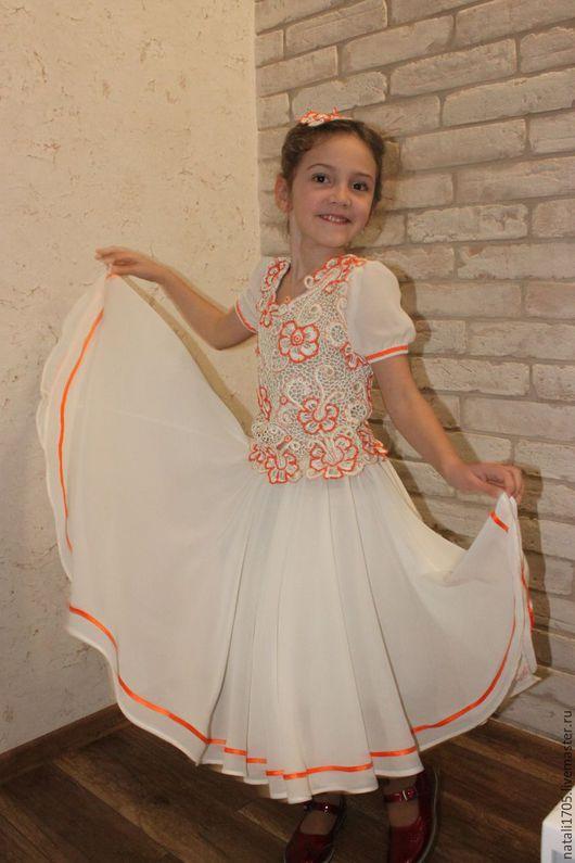 """Одежда для девочек, ручной работы. Ярмарка Мастеров - ручная работа. Купить Нарядное платье для девочки """"Собираемся на бал"""". Handmade. Комбинированный"""