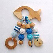 Куклы и игрушки ручной работы. Ярмарка Мастеров - ручная работа Грызунок-прорезыватель Рыбка. Handmade.
