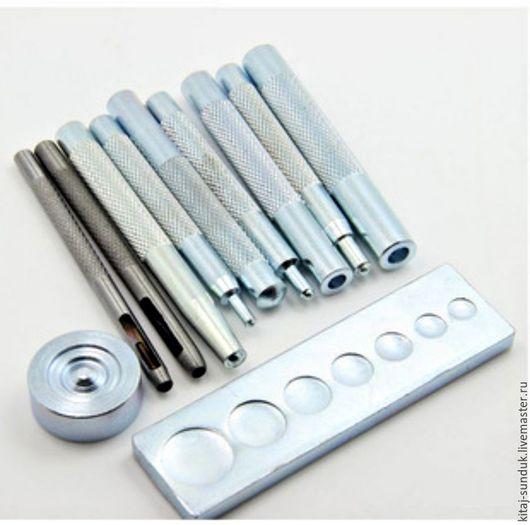 Другие виды рукоделия ручной работы. Ярмарка Мастеров - ручная работа. Купить Ручной инструмент для установки швейной фурнитуры 11 предметов. Handmade.