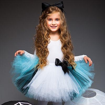 """Детские карнавальные костюмы ручной работы. Ярмарка Мастеров - ручная работа. Купить """"Алиса в стране чудес"""" пышная юбка-пачка и ободок с бантом. Handmade."""