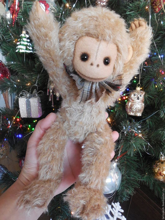 Мишки Тедди ручной работы. Ярмарка Мастеров - ручная работа. Купить Тедди игрушка Обезьянка. Handmade. Коричневый, подарок женщине