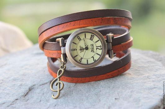 """Часы ручной работы. Ярмарка Мастеров - ручная работа. Купить Часы """" Музыка для тебя"""""""". Handmade. Комбинированный, браслет на руку"""