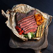 Русский стиль handmade. Livemaster - original item Steak and Burger Board