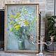 Картины цветов ручной работы. Полевые цветы в стеклянной вазе... AllaRo. Ярмарка Мастеров. Полевой букет, букет цветов, натюрморт