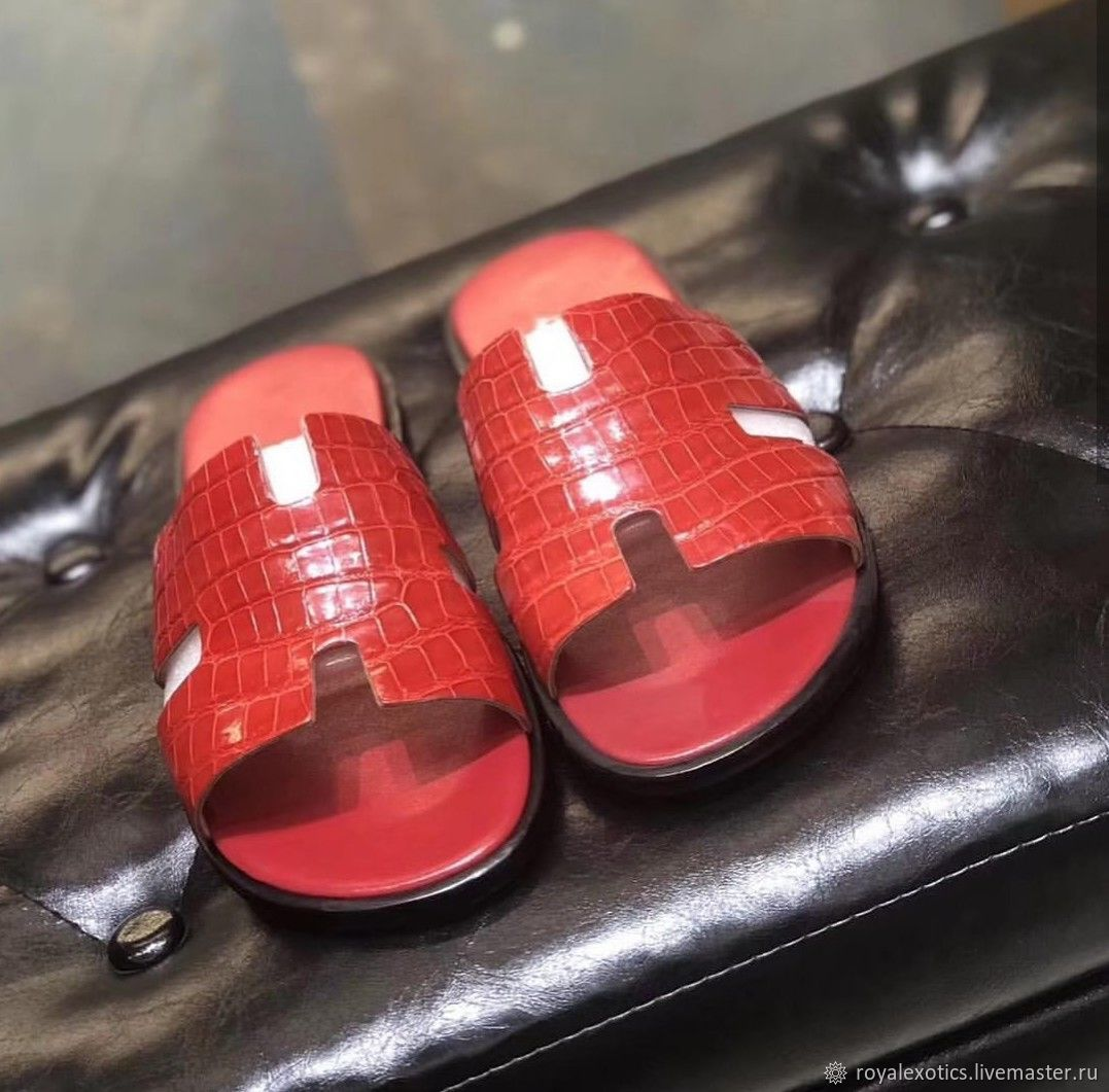 Women's Slippers from crocodile skin, under the order, Slippers, Tosno,  Фото №1