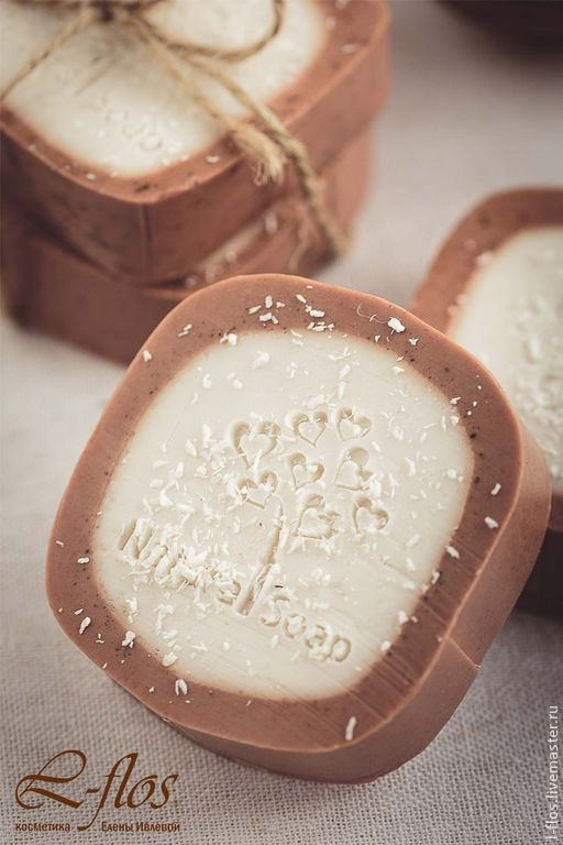 Мыло ручной работы `Кокосовый рай` - 300 руб !!!Не содержит лаурилсульфат натрия!!!
