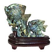 Для дома и интерьера ручной работы. Ярмарка Мастеров - ручная работа Композиция рыбки из лабрадорита. Handmade.
