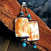 Украшения handmade. Livemaster - original item Eco-style earrings. Handmade.