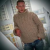 Одежда ручной работы. Ярмарка Мастеров - ручная работа Мужской объемный вязаный свитер. Handmade.