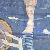 Для дома и интерьера ручной работы. Ярмарка Мастеров - ручная работа Шторы с ручной росписью Морские истории. Handmade.